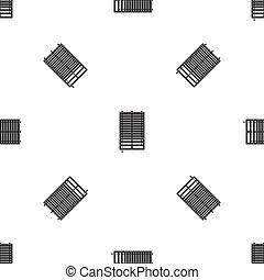 Window with wooden jalousie pattern seamless black