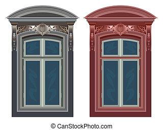 windows against white