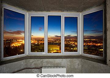 windows, alatt, új, szoba
