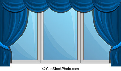 Windows blind icon, cartoon style