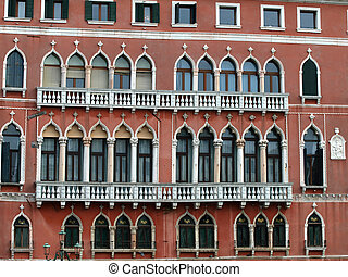 Windows creating a unique atmosphere of Venice