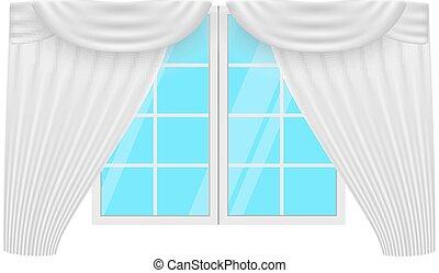 Vektor vorh nge fenster satz feste jalousie vorh nge for Fenster 800x800