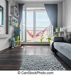 windows, eleven, kedves, szoba, nagy