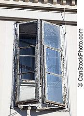 windows, enrejado, viejo
