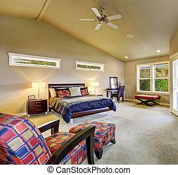 windows, fireplace., fiatalúr, hálószoba