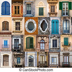 Windows from Sicily