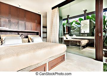 windows, glas, modern, türen, schalfzimmer