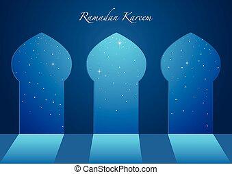 windows, grafico, moschea, illustrazione