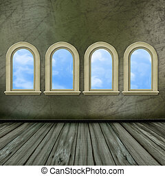 windows, groß, hofburg, uralt, halle