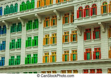 windows, herencia, colorido, singapur