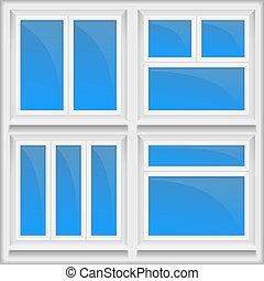 Windows - Set of windows with sills, vector eps10...