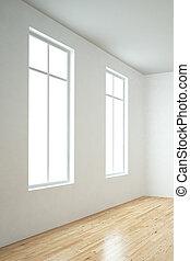 Windows in empty room