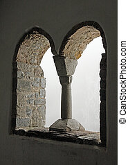 Windows in Gothic style into the unknown