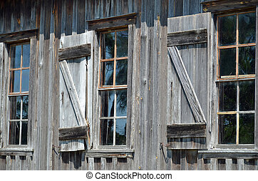 Windows in old house
