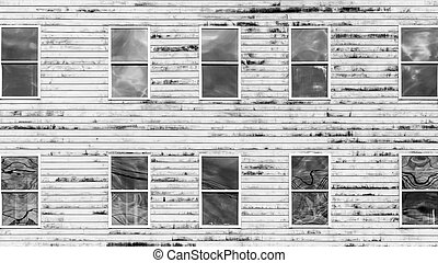 Windows in Old Plank Building