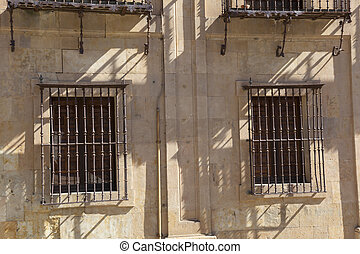 Windows in Salamanca, Castilla y Leon, Spain