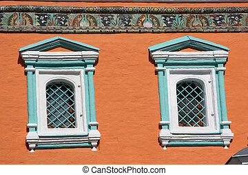 Windows in tradional russian style