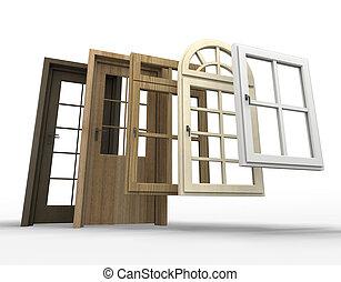 windows, kiválasztás, ajtók