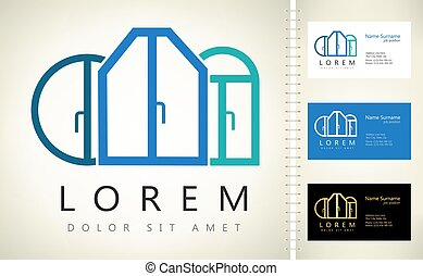 windows logo vector exterior house design