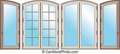 Windows - Model of three windows