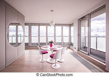 windows, nagy, szoba