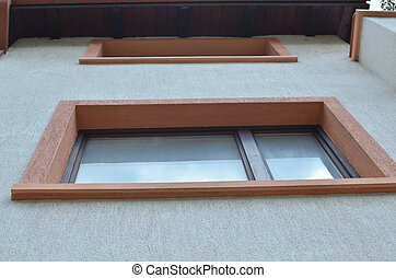 Windows of a house