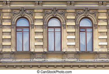 Windows of an old building, Saint-Petersburg