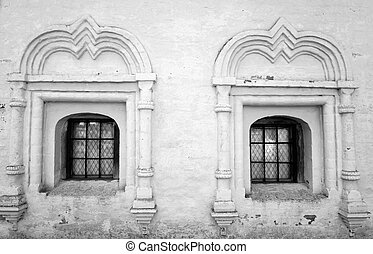 Windows of old building.