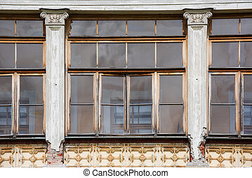 Windows of old building