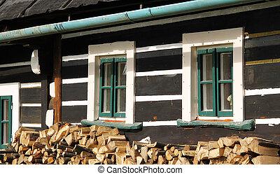 windows of old cottage