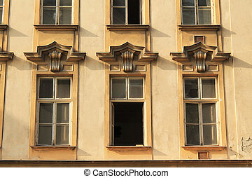windows of old house
