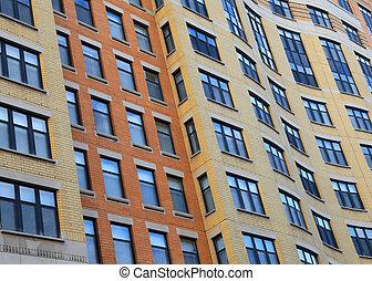 Windows of tall building