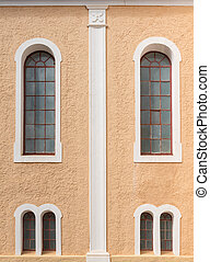 Windows of the historic Moravian Church in Genadendal