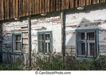 Windows of the old abandoned house