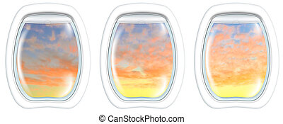 windows on Perth sunset