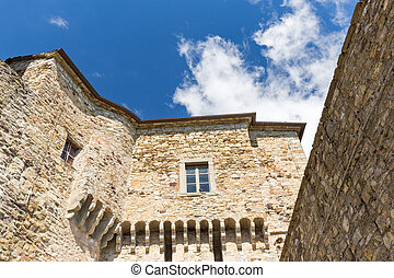 windows on the courtyard of the castle