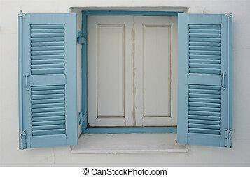 windows on white wall