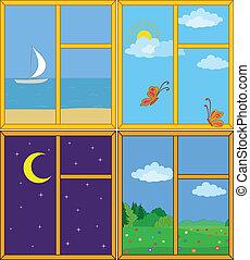 windows, paisajes