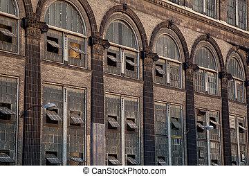 windows, pflanze, altes , macht