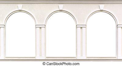 Windows  - Three windows. Element of design.