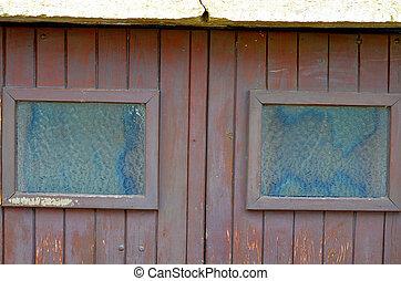 windows, porta legno, due