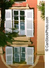 windows reflected