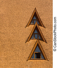 windows, schindel, holz, dach