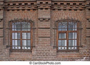 windows, szüret, tégla, house.