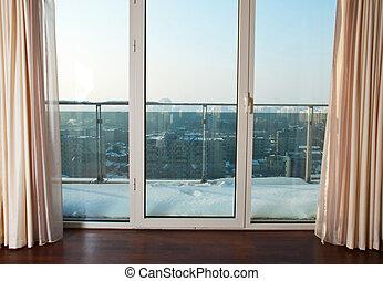 Windows to balcony - Big windows in a bedroom to the balcony...