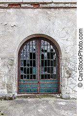 windows, vendemmia, porta, rotto