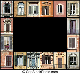 Windows web frame - Colorful frame for design, website and...
