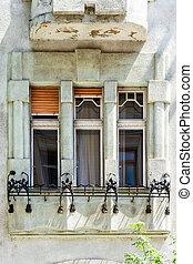 Windows with columns