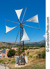 Windpump. Crete, Greece