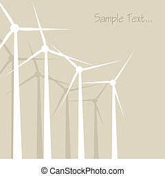 Windrad, windmill, windward background